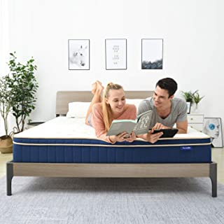 QueenMattress- Sweetnight Queen Size Gel Memory Foam Hybrid Mattress,8 Inch Individually Pocket Spring pillowtop Mattress,Supportive & Great Motion Isolation for a Restful Sleep