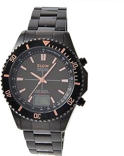 [エルジン]ELGIN 腕時計 ソーラー電波 ラウンドフェイス 100M防水 ブラック FK1415B-BP メンズ