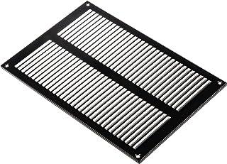200 x 300 mm czarna kratka wentylacyjna z blachy stalowej z ochroną przed owadami – kratka chroniąca przed warunkami atmos...