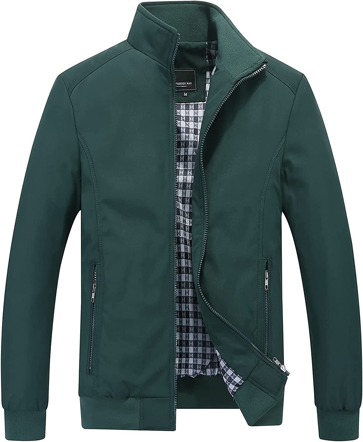 CRMY HSOSK Men's Jacket Collar 4 years warranty Transition Ultra-Cheap Deals Stand-up with