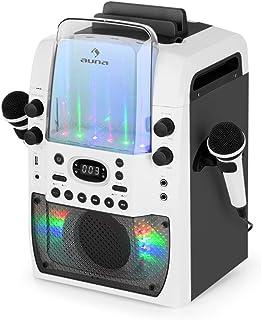 AUNA Kara Liquida BT Grey - Chaîne karaoké, LED Multicolores, Show Lumineux, Bluetooth, Lecteur CD lisant Les CD+G, Port U...