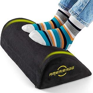 AMERIERGO Foot Rest Under Desk, Foot Stool with Curve Design, Ergonomic Under Desk Footrest...