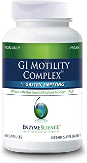 ENZYME SCIENCE™ GI Motility Complex™, 60 Capsules – All Natural Digestive Enzyme Support – Gut Health Supplment– Supports ...