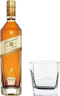 Johnnie Walker Aged 18 Jahre Set mit Tumbler Glas, Blended Whisky, Scotch, Alkohol, Flasche, 40%, 700 ml