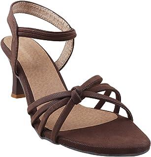 TWIN TOES Women's   Ladies   Female's   Girls Casual Party Fancy Wear Regular Heels Sandals Fashion
