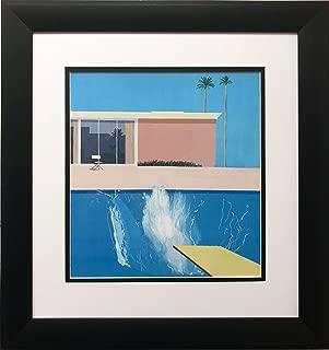 David Hockney A Bigger Splash Newly Custom Framed Art Print Framed Size Approx. 16.5