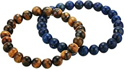 Spiritual Compass Duo Tiger Eye Bracelet Set