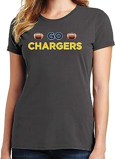RHEYJQA Go Chargers Women's T-Shirt Sports Team