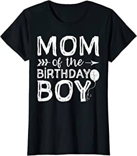mom and son matching birthday shirts