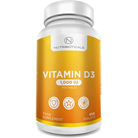 Vitamin D3 1000IU - 450 Premium Easy Swallow Micro Tablets 15 Month Supply - One a Day High Strength Cholecalciferol - Vegetarian Supplement
