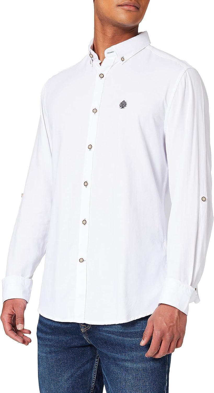 Springfield Camisa Estructura Hombre