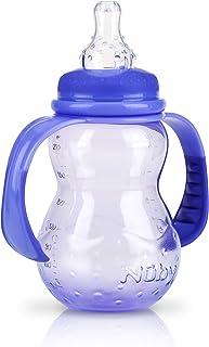 Nuby 2 Stage Grow Nurser Vari-Flo Nipple Bottle 210 ml, Blue_1011092