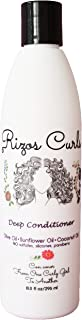 Rizos Curls Deep Conditioner for Curly Hair. Promotes Growth and Reduces Frizz, Breakage and Split Ends. With Olive Oil Coconut Oil and Sunflower Oil to Nourish and Moisturize. Hecho Por Una Latina