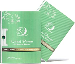 Natural Green Tea Oil Absorbing Tissues - 200 Counts in 2 Pack, Premium Face Oil Blotting Paper - Take 1 Piece Each Time D...