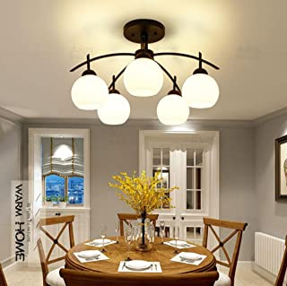 Iron LED Ceiling Living Room Bedroom Dining Room Lamps Book (Design : 5P)