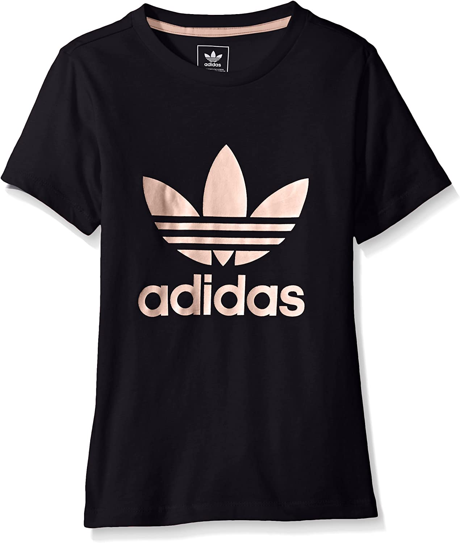 legumbres pista En segundo lugar  Amazon.com: adidas Originals Tops Big Girls' Short Sleeve Trefoil Tee,  Legend Ink/Haze Coral, XX-Small: Clothing