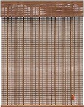 Gordijnen Bamboe gordijnen Transparante gordijnen Verkoold bamboe gordijnen Gele draad geelbruine bamboe gordijnen Liftbar...