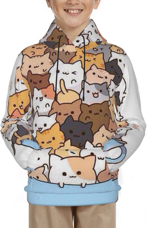 Pullover Hooded Sweatshirts for Boys Girls Teens Junior, Funny C