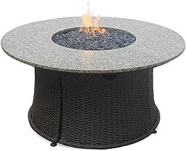granite top propane fire pit