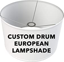 FenchelShades.com Fully Customizable Drum Lampshade with European-Style Attachment. Virtually Any Size or Color. Custom Made in USA.