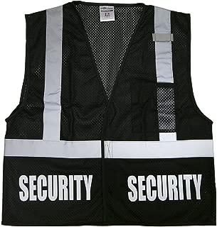 Conspiracy Tee Security Safety Vest, Black, Reflective Design, High Visibility Vest, Bodyguard