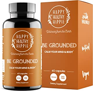 BE Grounded Stress Relief Supplement – Calm Down Now with Happy Healthy Hippie Plant-Based All-Natural Lave...