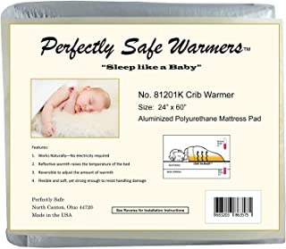 Body Heat Activated Crib, Twin, Full, Queen or King Size Bed Warmer Mattress Pad (Crib)