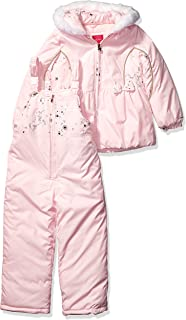 Girls' Snowsuit with Snowbib and Puffer Jacket