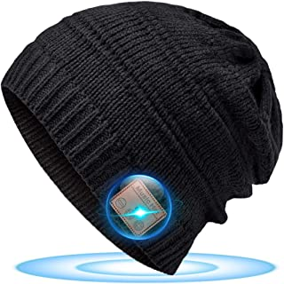 Bluetooth Beanie Gifts for Men Women, Christmas Stocking Stuffers for Men Dad Teens Fashion Bluetooth Beanie Hat, Upgraded...