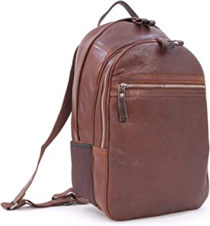 Ashwood Zip Backpack Rucksack - Milled VT Leather - Stratford Collection - 4555 - Tablet Compartment - Chestnut Tan