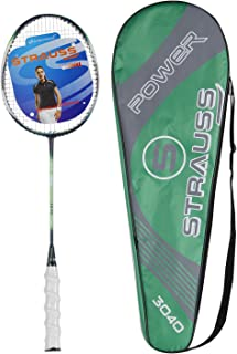 Strauss Nano Spark Badminton Racquet with Full Cover(Green)