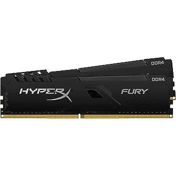 HyperX Fury 32GB 3200MHz DDR4 CL16 DIMM (Kit of 2) Black XMP Desktop Memory HX432C16FB3K2/32