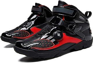 ZDERET Chaussures D'équitation De Vitesse Unisexe Bottes De Moto Hors Route Course De Montagne Cyclisme Bottes Courtes For...