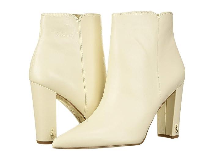 70s Shoes, Platforms, Boots, Heels Sam Edelman Raelle Modern Ivory Nappa Verona Leather Womens Shoes $95.96 AT vintagedancer.com
