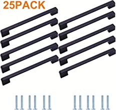 Yufer Black Cabinet Handle Pull,7.5''(192mm) Hole Center,25 Pack Modern Kitchen Cabinet Hardware& Furniture Handle Pull,Zinc Alloy