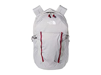 The North Face Pivoter Backpack (Meld Grey Dark Heather/Dramatic Plum) Backpack Bags
