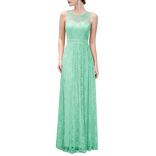cec1bd07c4d Wedtrend Women s Floral Lace Long Bridesmaid Dress Party Gown