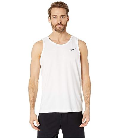 Nike Dry Tank Dri-FITtm Cotton Solid (White/Black) Men