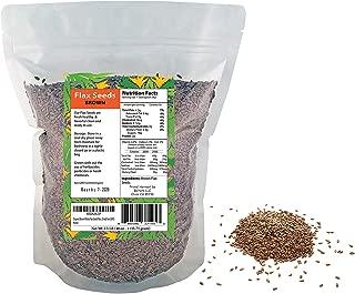 Organic Brown Whole Flax Seeds Raw, Dried, Non GMO.