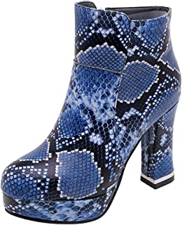 TAOFFEN Women Fashion Autumn Booties Block Heels Ankle Boots