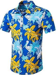 8f2d4e61c0181 Save 15% ! BBesty Men s Fashion Beach Printed Cotton Short Shirt