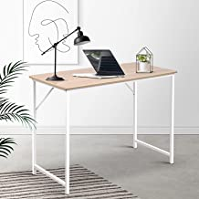 Office Computer Desk Laptop Metal Table Student Study Home Furniture Work White