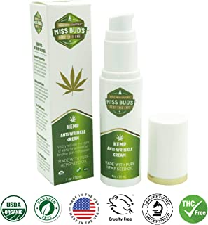 Miss Bud's Hemp Anti-Wrinkle Cream Reduce Line Increase Firmness and Elasticity Made from Pure Hemp Seed Oil