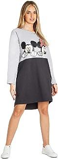 Disney Oversized sweatshirt-jurk voor dames Mickey & Minnie casual sweaterjurk