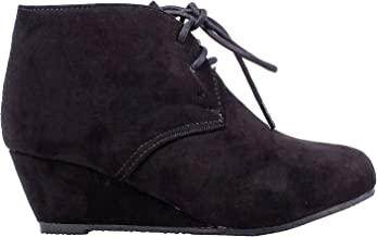 Bella Marie Anna Sally-5K Cute Fashion New Faux Suede Pumps Lace Up Girls High Heels Kids Ankle Boots Youth Size Shoes
