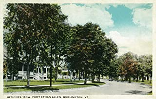 Burlington, Vermont - Fort Ethan Allen View of Officers' Row (16x24 Fine Art Giclee Gallery Print, Home Wall Decor Artwork Poster)
