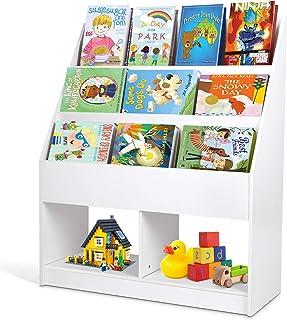 amzdeal - Estantería Infantil Estantería para Juguetes Librería para Niños con Almacenamiento de Juguetes Librería Inf...
