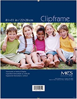 MCS 8.5x11 Inch Document Clip Frame, Clear (40942)
