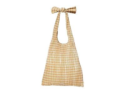 Loeffler Randall Bex Pleated Knot Shoulder Bag (Mustard Gingham) Handbags