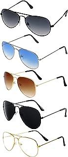 ELEGANTE Men's Aviator Sunglasses(Pack of 5)